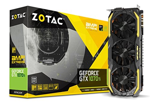 ZOTAC-GeForce-GTX-1070-Ti-AMP-EXTREME-8GB-GDDR5-256-bit-Gaming-Graphics-Card-IceStorm-Cooling-Dual-blade-EKO-Fans-Carbon-ExoArmor-Spectra-Lighting-PowerBoost-ZT-P10710B-10P