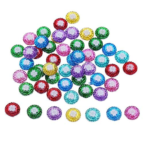 Buttons - 50pcs 12mm Colorful Resin Button Flatback Scrapbooking Diy Jewelry Buttons Accessory - Harry Sewing Assorted Resin Victorian Bags Horn Jigsaw Replacement Handmade -