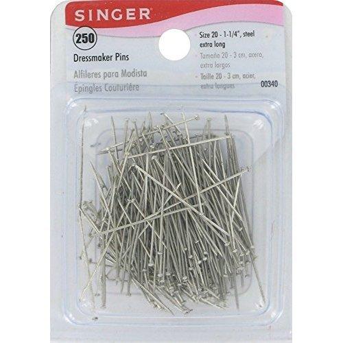 Bulk Buy: Singer Dressmaker Pins Size 20 250/Pkg 00340 (12-Pack) by SINGER