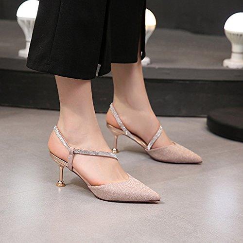 Hebilla Para Tobillo De Mujeres Zapatos Bajo Bombas Sandalias Porm Correa Pink El Tacón Cy Cerrado Las Trabajo xHn4YXwwP