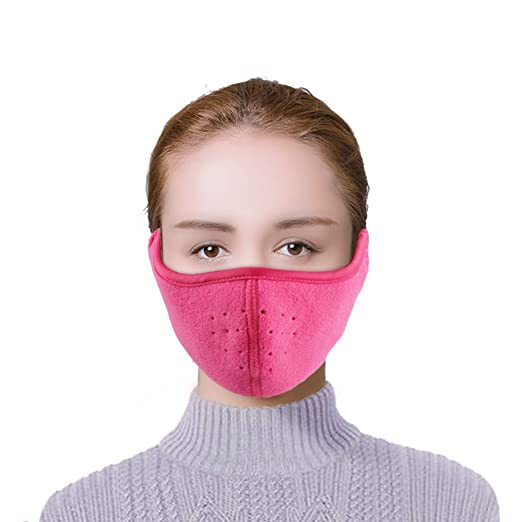 TECHONG Womens Winter Warm Windproof Mask - Thick Dustproof ... 6daabed90e