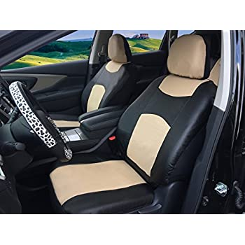 Strange Amazon Com 116001 Black Fabric 2 Front Car Seat Covers For Pabps2019 Chair Design Images Pabps2019Com