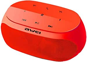 Awei Y200 Super Bass Portable Hifi Wireless Bluetooth Speaker, Built in Mic, AUX,TF Card - Red