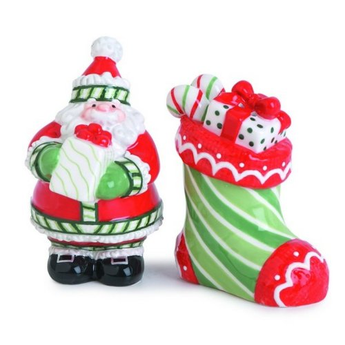Fitz and Floyd Stocking Stuffers Salt and Pepper ()