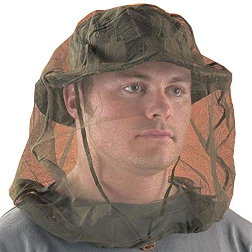 Chicago Protective Apparel One Size Fits All Olive Drab Nylon Mesh Mosquito Head - Olive Drab Nets Head