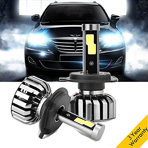 H4(HB2/9003) LED Headlights Bulbs Conversion Kits, 8000LM 80W 6000K Super Bright Car Headlamps for Honda Toyota Hyundai Kia Chevrolet Ford Tacoma Tundra CR-V Ridgeline Tucson Yaris - 2 pcs