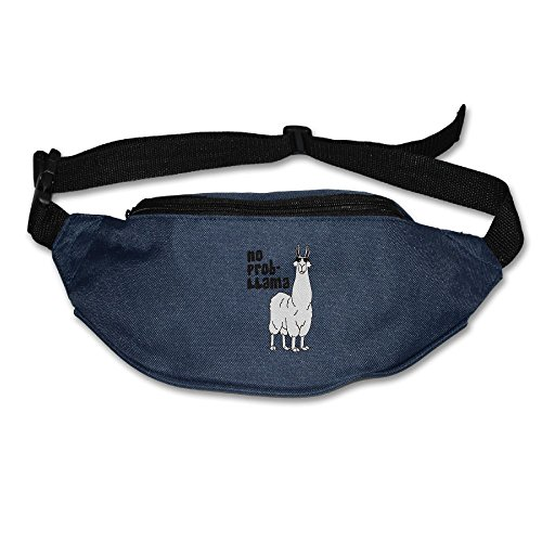 Price comparison product image Heard Me Unisex No Problem Llama Fanny Pack Waist Bag Phone Holder Adjustable Running Belt For Cycling, Vacation, Hiking, Gym Navy