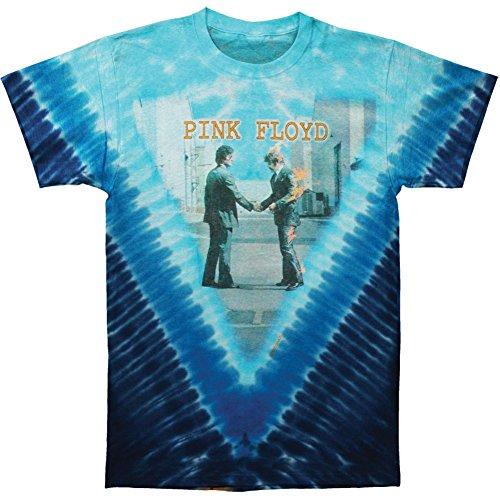 Were Here Tie Dye T-shirt - Pink Floyd Men's Wish You Were Here Tie Dye T-shirt XX-Large Multi