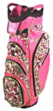 Birdie Babe Flower Power Pink Womens Golf Cart Bag with 14-way Dividers