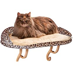 K&H Manufacturing Deluxe Kitty Sill with Bolster Leopard 14-Inch by 24-Inch