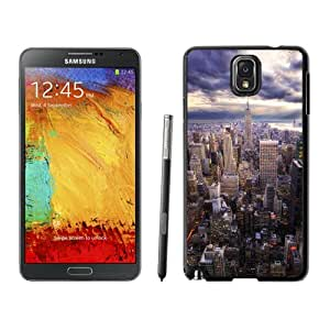 Beautiful Unique Designed Samsung Galaxy Note 3 N900A N900V N900P N900T Phone Case With HDR New York Skyline View_Black Phone Case