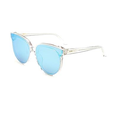 2662af6f51944 Amazon.com  MUJOSH Mirrored Cat Eye UV 400 Fashion Sunglasses for ...