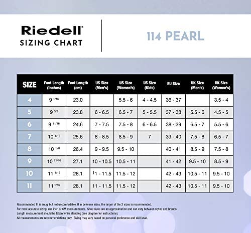 Riedell Skates - 114 Pearl - Women's Recreational Ice Figure Skates with Steel Luna Blade