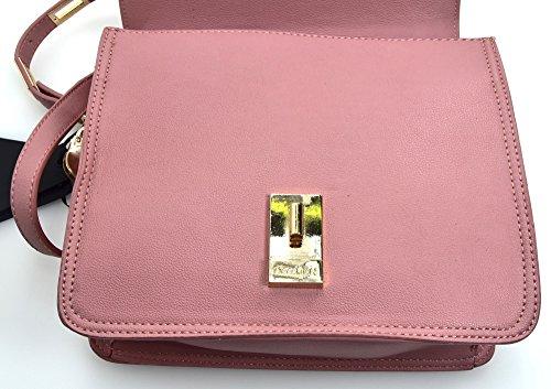 Annarita Pink Tracolla Eco Donna N Grande Poliuretanica Medio Pochette Rosa Pelle Borsa AAOZr7