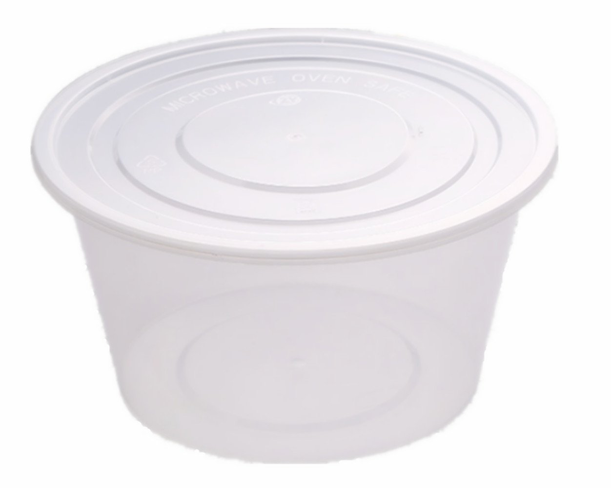 Emoyi Plastic Disposable Portion Cups Food Storage Container with Lids 16 Ounce Pack of 50 mk77