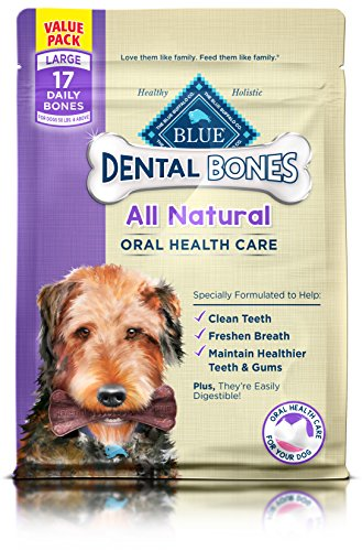 BLUE Dental Bones Adult Large Dental Chew Dog Treat 27-oz Value Pack
