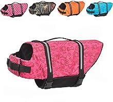Doglay Dog Life Jacket with Reflective Stripes, Adjustable Dog Lifesaver Pet Life Preserver with High Buoyancy Swimsuit...