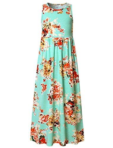 Kids Dressy Prom Party Formal Maxi Long Dress Mint Green ()
