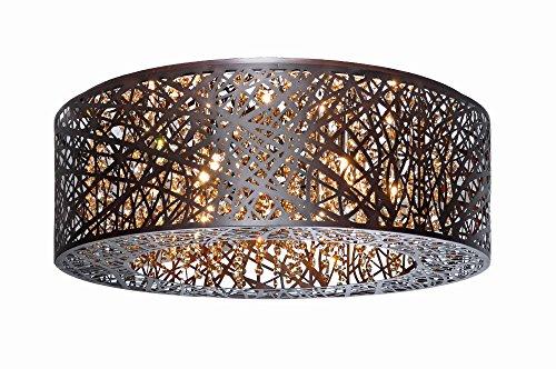 Maxim ET2 Lighting Flush Mount in Bronze Finishing - Metal Shade Indoor Ceiling Lamp - Modern Hanging Lighting Accessory. Lighting -
