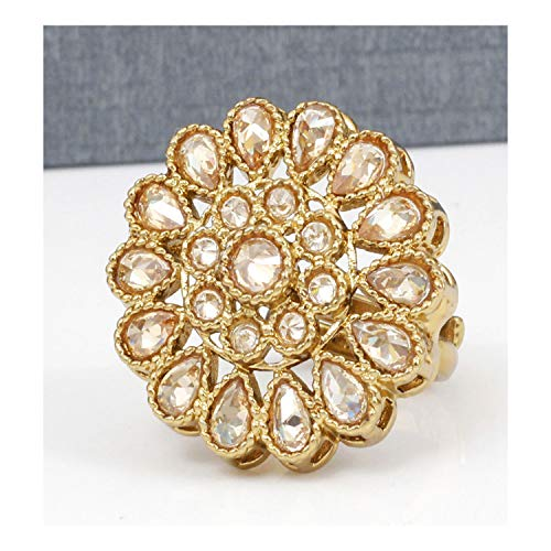 (Ratna creation Traditional Antique Crystal Stone Made Beautiful Indian Bollywood Adjustable Ring Women Wedding)