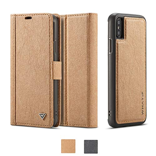 Black Friday Deals Week-Case for iPhone Xs Max [2 in 1] iPhone Xs Max Wallet Case Detachable [Vegan...