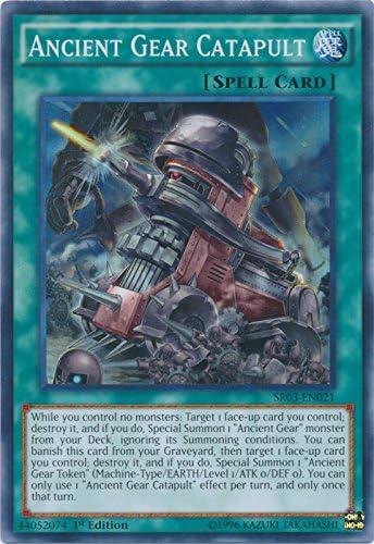 Str SR03-EN021 1x Ancient Gear Catapult Super Rare 1st Edition NM YuGiOh