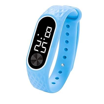 QinMM Relojes Deportivos Hombre Y Mujer, Reloj Digital LED Pulsera Actividad xiaomi de Gel de