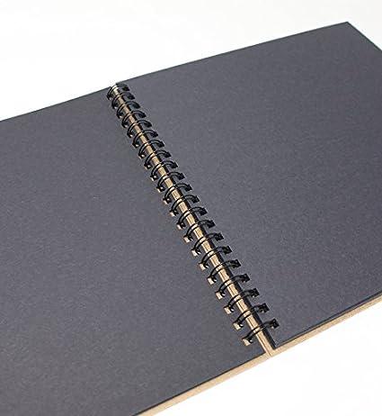 Quaderno da disegno 100/% Riciclato Carta // Cartone nero Artway Enviro A3-30 pagine