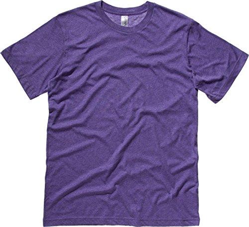 Bella Leinwand Triblend Crew Neck T-Shirt Lila Triblend M