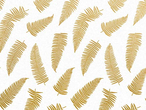 Golden Frond Print Design Gift Grade Tissue Paper Sheets - 15
