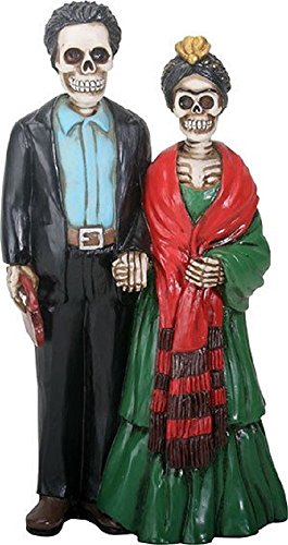 YTC Summit International Day of the Dead Skeleton Frida Kahlo and Diego Rivera Figurine Mexican Artists