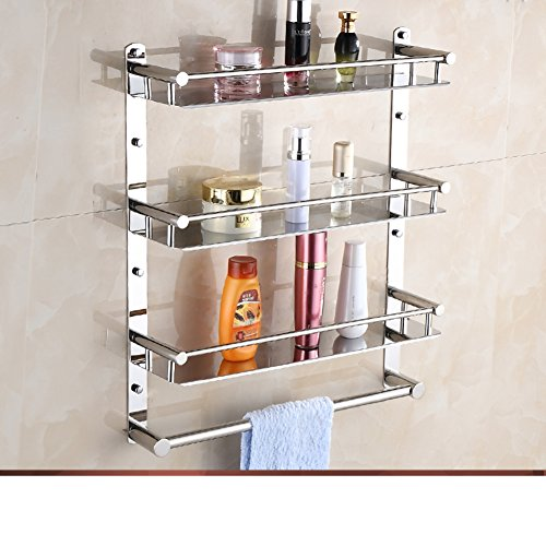 Stainless steel Towel rack/toilet/Bathroom storage rack/ folding ...