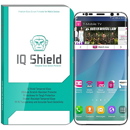 Galaxy S8 Plus Screen Protector (White), IQ Shield Tempered Ballistic Glass Screen Protector for Galaxy S8 Plus (S8+) 99.9% Transparent HD and Shatter-Proof Shield