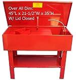 40 Gallon Parts Washer Cleaner w/ Pump Shelf & Basket