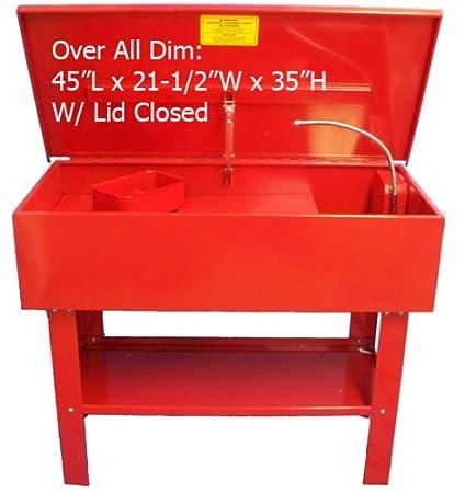 40 L limpiador de lavadora de piezas w/Pump estante y cesta ...