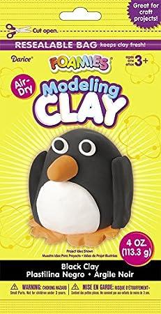 Darice Foamies Foam Modeling Clay Black 4 oz