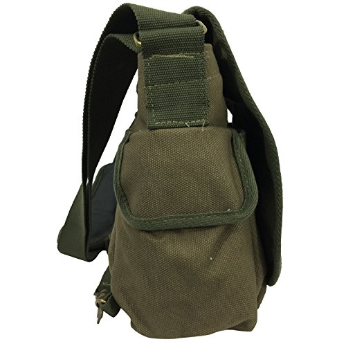 Heavy Duty Classic Canvas Messenger Bag Vintage Military Laptop ...