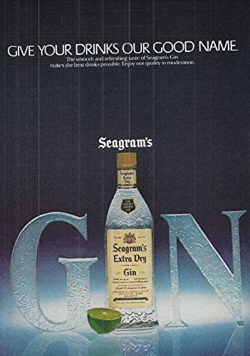1981 Vintage Alcohol Advertisement Seagram's Extra Dry (Extra Dry Gin)