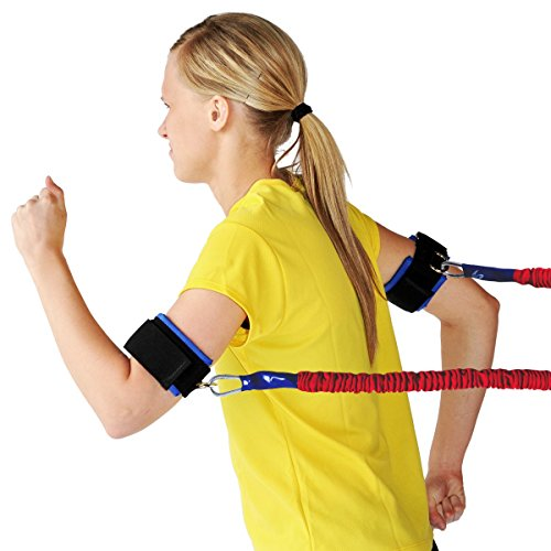 Speedster Arm Speed Training - Heavy Resistance Lightning Cord with Safety Sleeve and 2 Bicep Cuffs - Safety Resistance Trainer