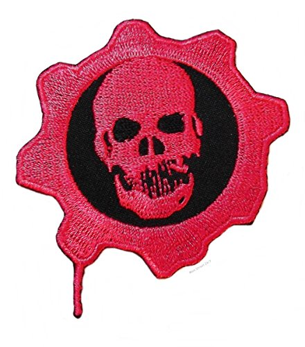UPC 683258646628, Gears of War RED OMEN SKULL Embroidered Logo PATCH