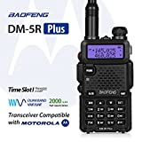 Baofeng DM-5R Plus Dual Band DMR Digital Radio Walkie Talkie, VHF / UHF 136-174 / 400-480MHz Two-Way Radio Transceiver, Compatibale with MOTOROLA, Black
