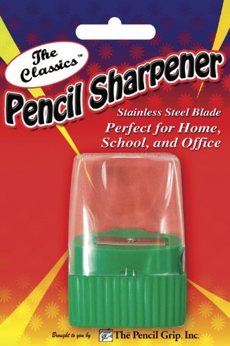 Pencil Grip The Classics Pencil Sharpener with Stainless Steel Blade (Single Wedge Shape), Assorted Colors (TPG-142) by The Classics