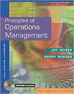 Principles of Operations Management: 4th (fourth) edition
