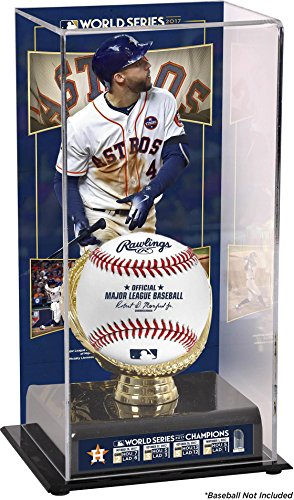 George Springer Houston Astros 2017 MLB World Series Champions Sublimated Display Case with Image - Fanatics Authentic Certified (Cases Display Houston)