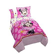 Disney Minnie Mouse Bigger Bow Twin Reversible Comforter & Sham Set
