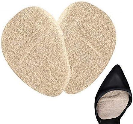 Doact Plantillas de Zapatos Con Tacón Alto (2 pares) Proteger Los Pies, plantillas pies, Medio plantilla para Alivio el Dolor en el Antepié, Efecto Antideslizante (35-40EU) (Beige)