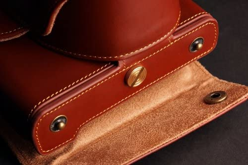 Handmade Genuine real Leather Full Camera Case bag for Olympus E-PL6 EPL6 E-PL5 EPL5 A Brown Color