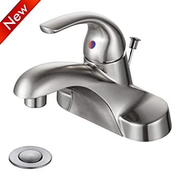 Wowow Bathroom Faucet One Handle Low Arc Single Handle 4 Inch Center