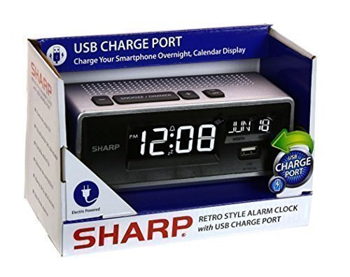 Sharp Retro Digital Calendar Charge