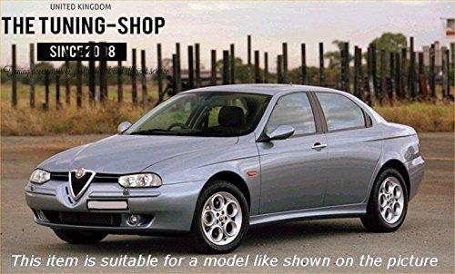 02/Gear /& Handbremsmanschette schwarz Italienisches Leder grau Naht F/ür Alfa Romeo 156/1998